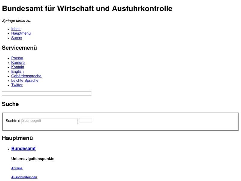 Screenshot von www.bafa.de